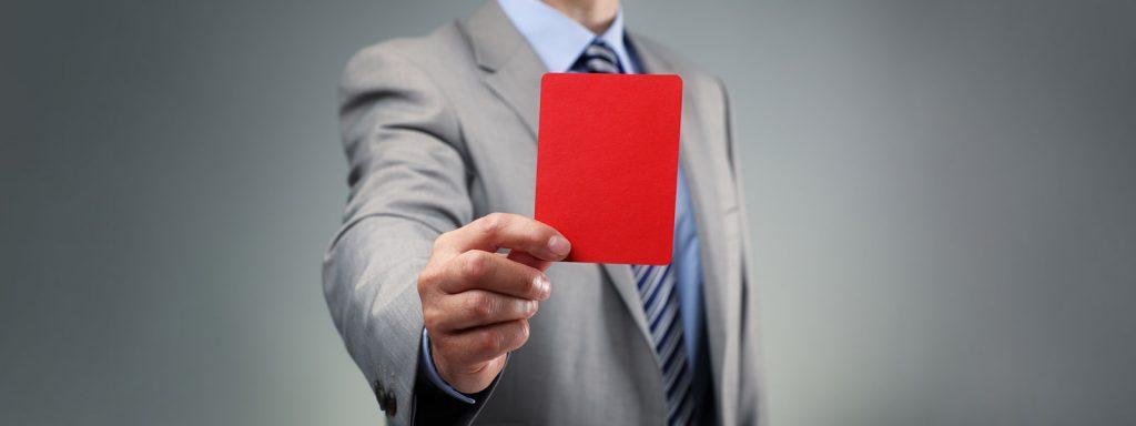 Rote Karte für die Bietergemeinschaft